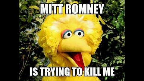Big Bird Mitt Romney